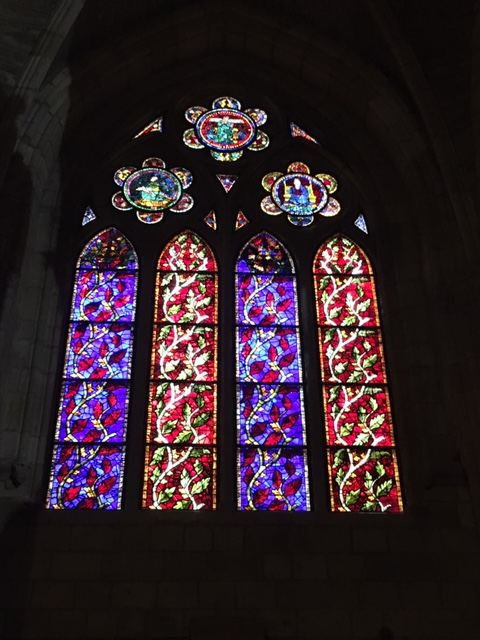 Stained glass in the cathedral of Leon