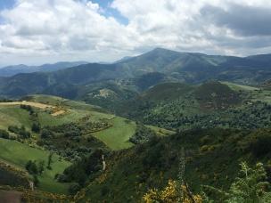 View from the tiny mountaintop village of O'Cebreiro